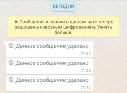 Фото №2 - Как прочитать удаленное сообщение в WhatsApp