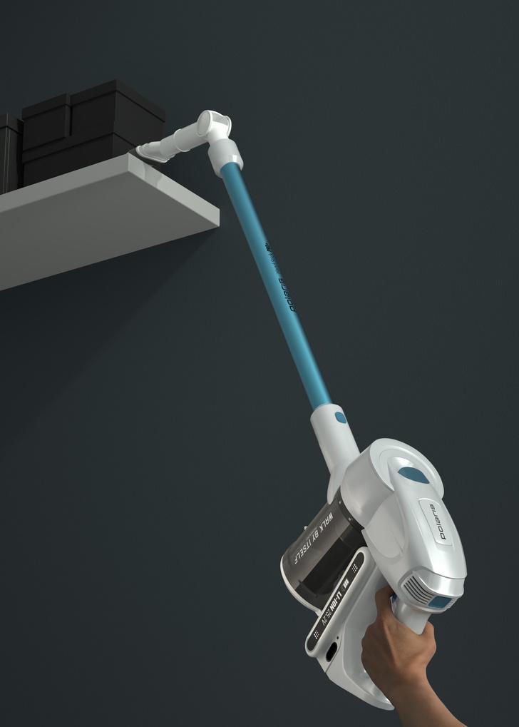 Фото №3 - Беспроводной пылесос Polaris c УФ-лампой: дезинфекция дома и без усилий