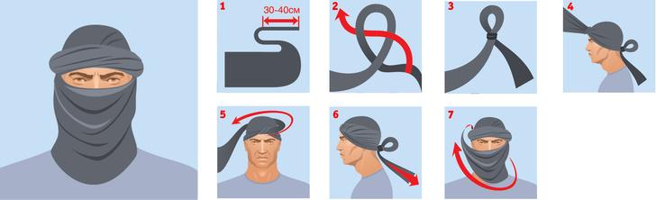 Фото №4 - Как повязывать и носить шемаг (4 способа)