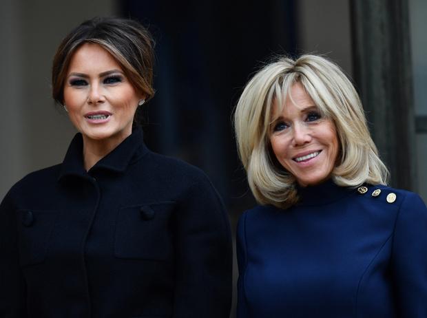 Фото №2 - 18 фотографий Брижит Макрон и Мелании Трамп, доказывающих, что их дружба – это серьезно