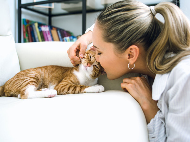 Фото №1 - 7 фактов о женщинах и кошках