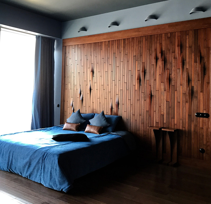 Деревянные панели в спальне: 15 примеров (галерея 1, фото 8)