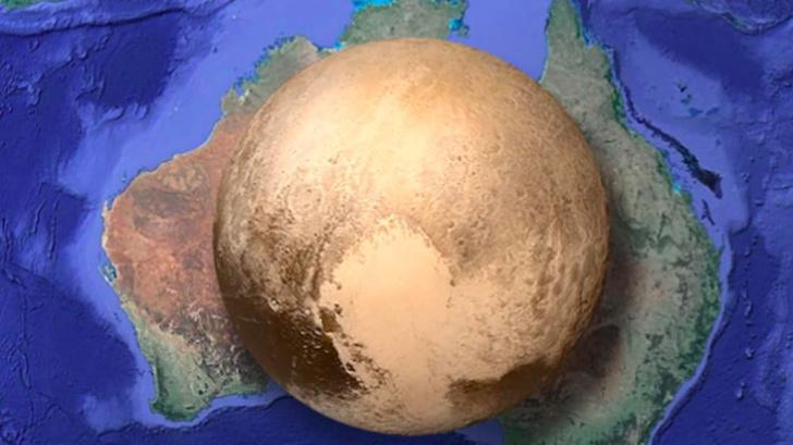 Фото №1 - Как выглядит Плутон по сравнению с земными континентами
