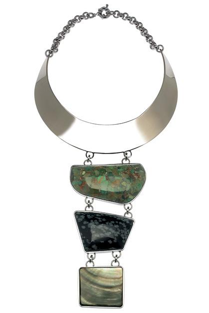 Массивное колье с натуральными камнями, Etro