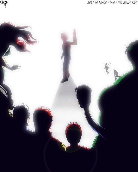 Фото №9 - Так трогательно: фанаты Marvel нарисовали комиксы в память о Стэне Ли