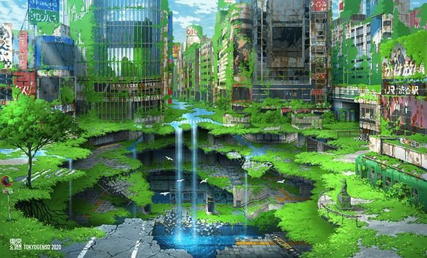 Фото №1 - Художник недели: ослепительные города и руины Tokyogenso