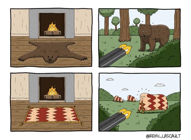 Фото №12 - 19 комиксов для ценителей черного юмора от французского художника