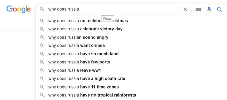 Фото №4 - Самые странные популярные запросы иностранцев о России и русских