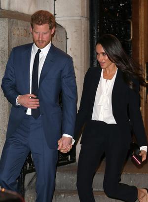 Фото №6 - Их модные Высочества: лучшие парные образы Меган и Гарри