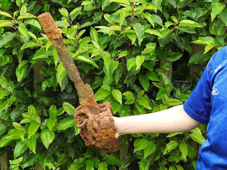 Фото №1 - Десятилетний мальчик нашел меч XVII века