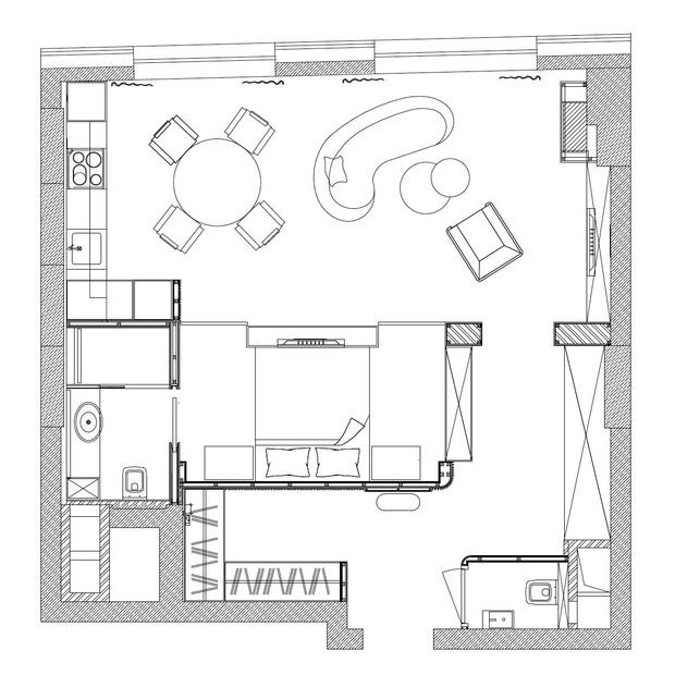 Фото №14 - Квартира 60 м² с видом на Екатерининский парк