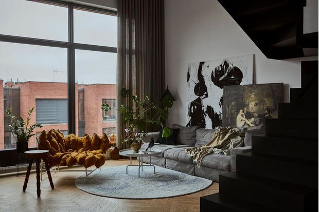 Фото №10 - Эклектичная квартира со спальней в мезонине в Познани