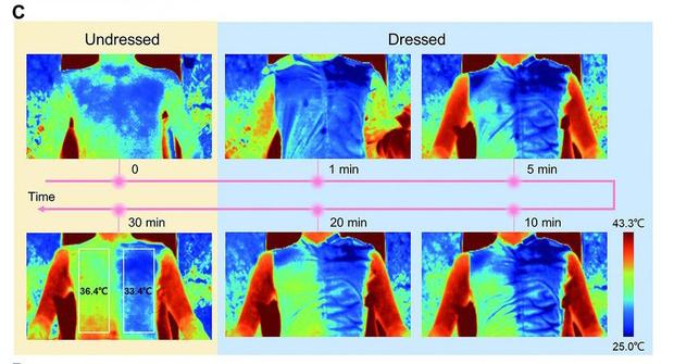 Фото №2 - Разработана «умная» ткань, способная охлаждать тело в жару