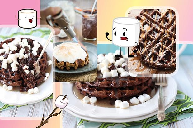 Шоколадные вафли с маршмеллоу