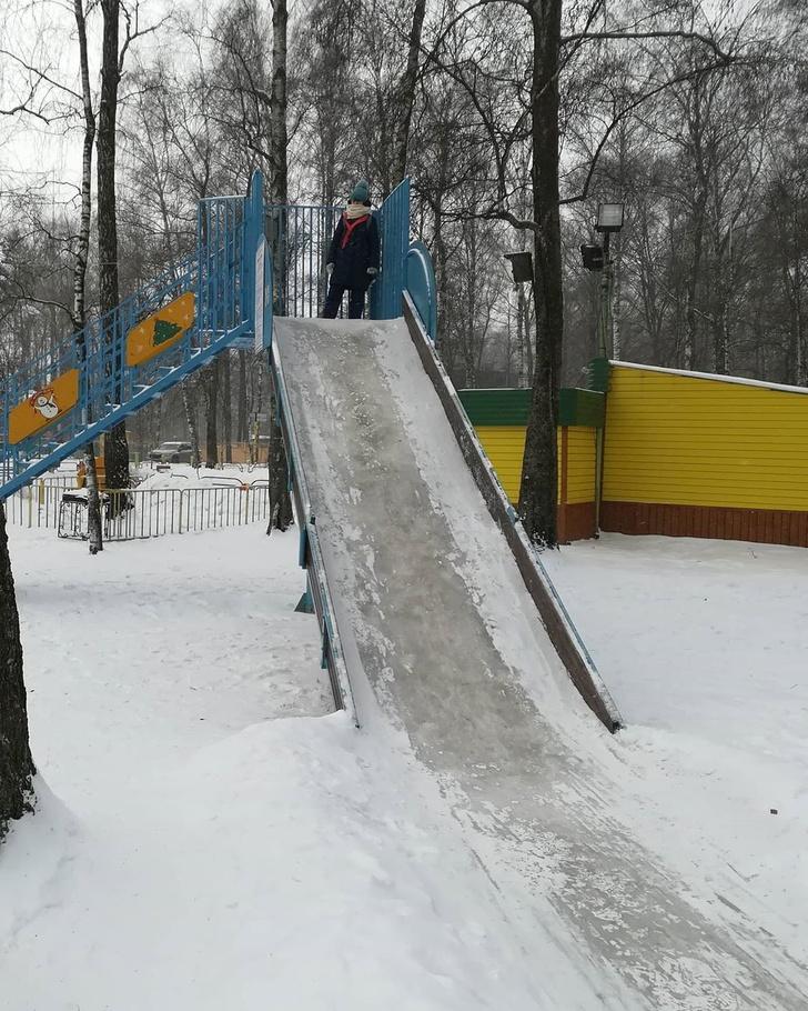 Фото №3 - В Подмосковье муниципалитет пытался брать с детей по 50 рублей за катание на ледяной горке (фото)