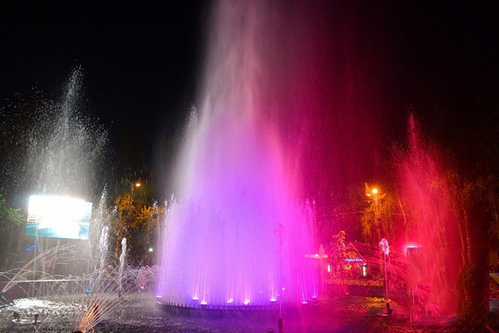Ночь фонтанов в ЦПКиО, фото