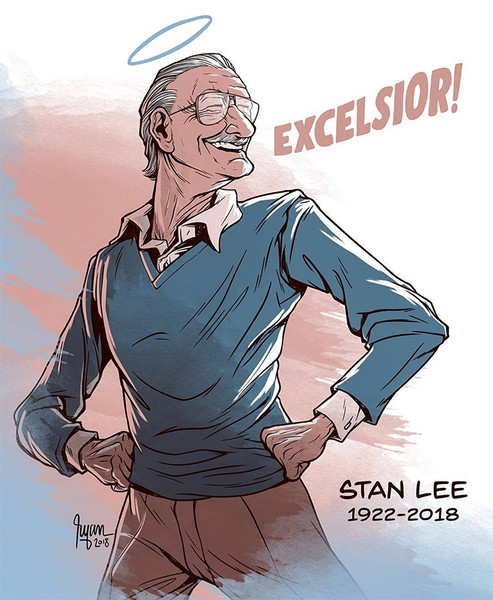 Фото №1 - Так трогательно: фанаты Marvel нарисовали комиксы в память о Стэне Ли