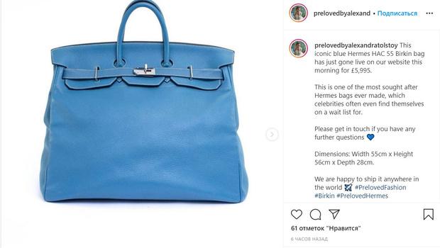 Фото №1 - Графиня Толстая, готовясь к выселению, выставляет на продажу ценную сумку