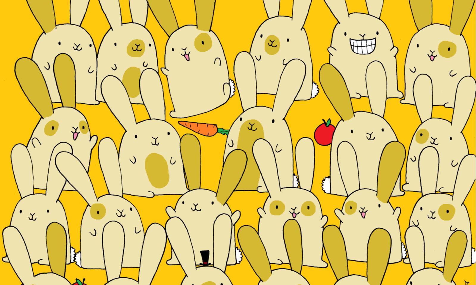 Загадка найти кролика на картинке