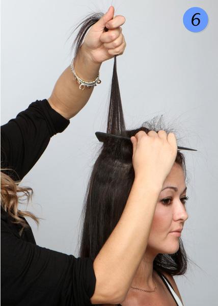 Выпрямление волос щипцами