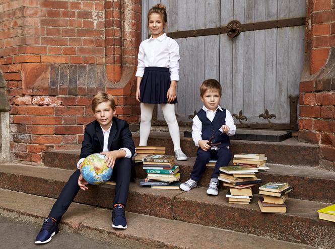 Фото №2 - Артём, Яна и Арсений Аршавины в рекламе школьной формы H&M