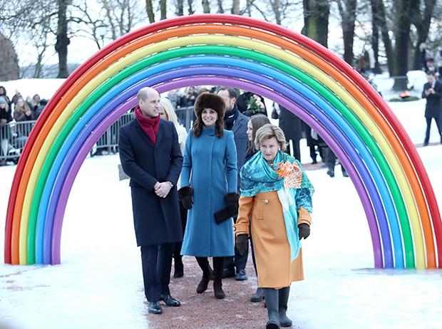 Фото №15 - Кейт Миддлтон и принц Уильям в Норвегии: день первый
