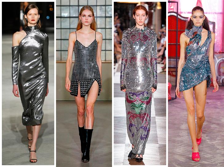 Фото №1 - Новогодний образ: топ-15 платьев цвета металлик для главного вечера года