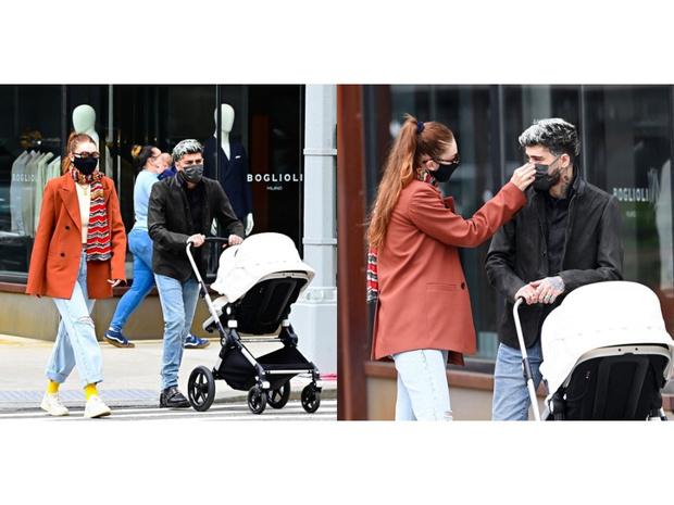 Фото №3 - Джиджи Хадид и Зейн Малик впервые появились вместе на публике с дочкой