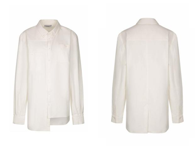 Фото №1 - White fall: асимметричная рубашка TRUSTME STUDIO