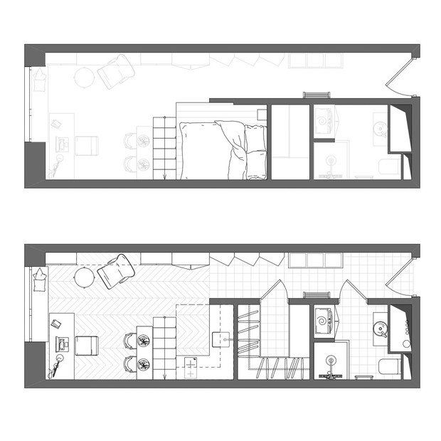 Фото №14 - Квартира 26 м² со спальней на антресоли