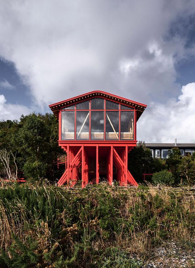 Фото №2 - Красный дом для барбекю в Чили