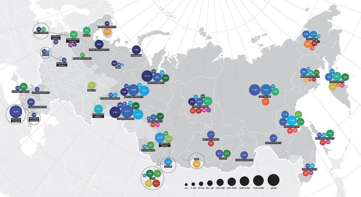 Фото №1 - Родные стены. Карта малочисленных народов России