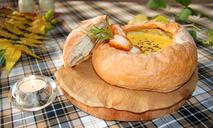 Крем-суп из тыквы с тигровыми креветками