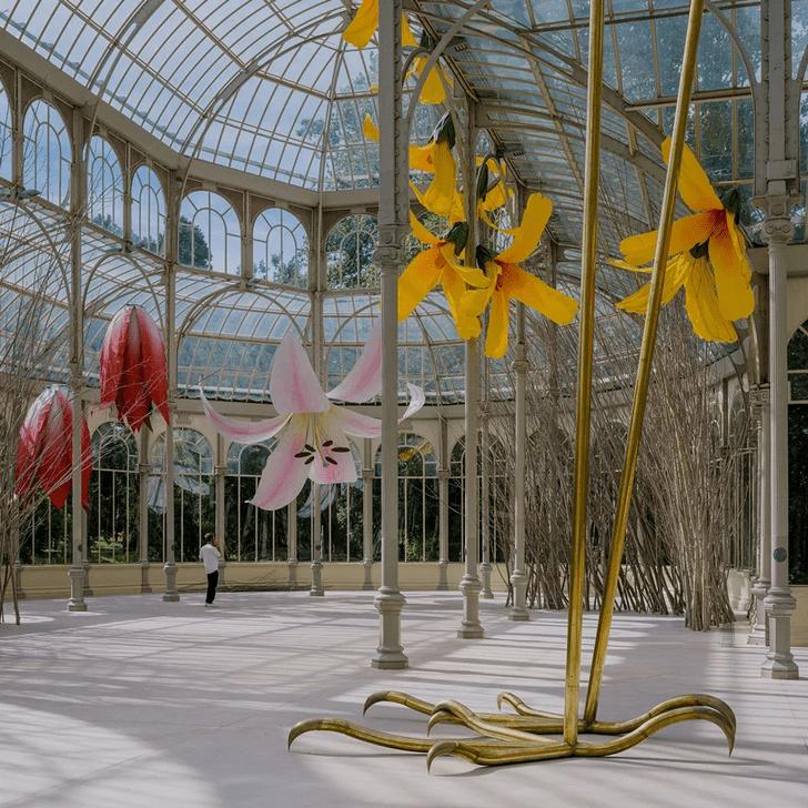 Фото №3 - Язык цветов: инсталляция в Хрустальном дворце в Мадриде