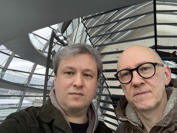 Антон Долин со своим другом Паоло Перроне