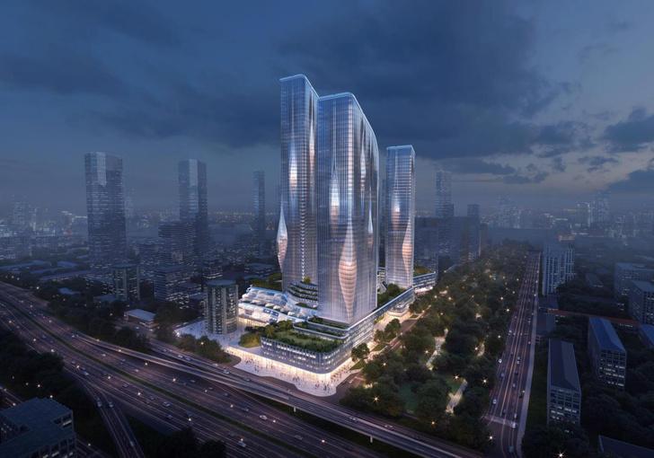 Фото №2 - Zaha Hadid Architects построит жилой комплекс в Хорошево-Мневниках