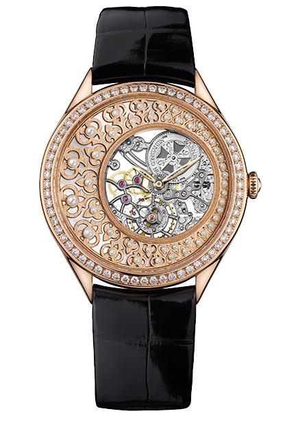 Часы Metiers d'Art Fabuleux Ornements, розовое золото, бриллианты, жемчуг, перламутр, Vacheron Constantin.