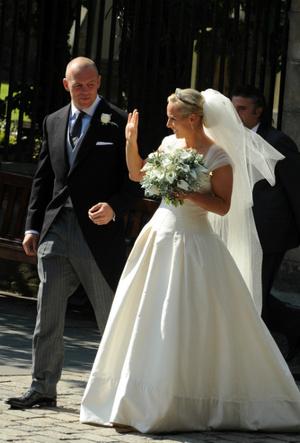 Фото №3 - Задолго до Меган: как Зара Тиндолл нарушила протокол на своей свадьбе