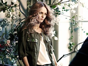 Ванесса Паради (Vanessa Paradis) на съемках рекламной кампании Conscious at H&M