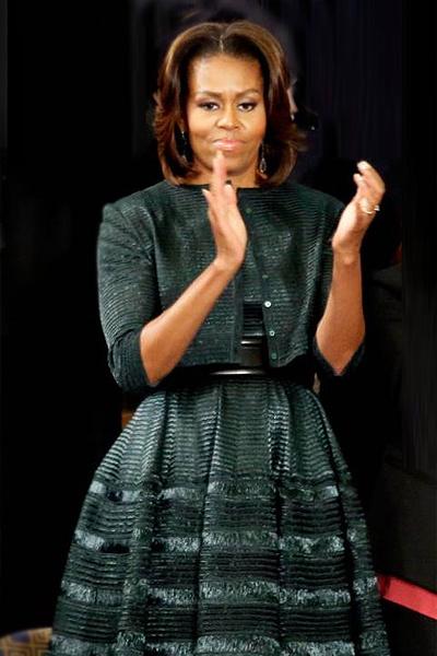 Мишель Обама в платье Azzedine Alaia
