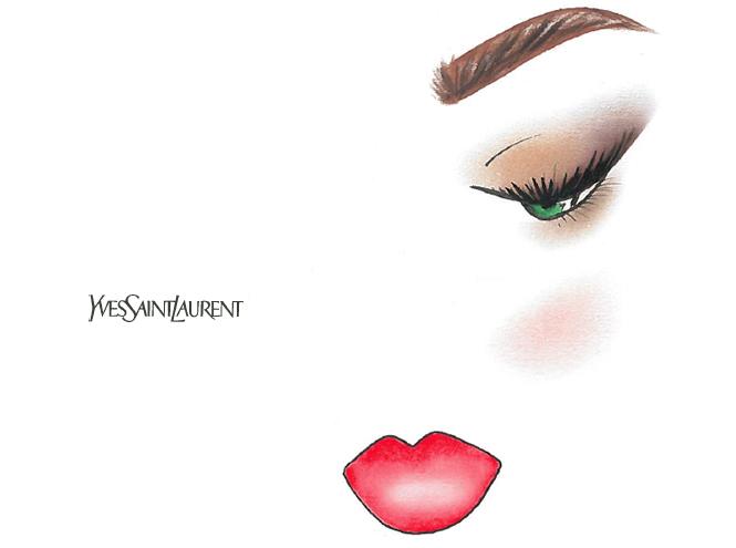 Фото №3 - Праздничный макияж по цвету глаз от визажиста YSL
