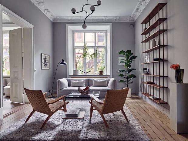 Фото №3 - Гостиная в скандинавском стиле: советы по декору и оформлению