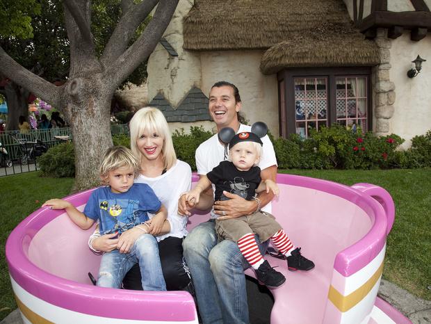 Гвен Стефани и Гэвин Россдэйл с детьми