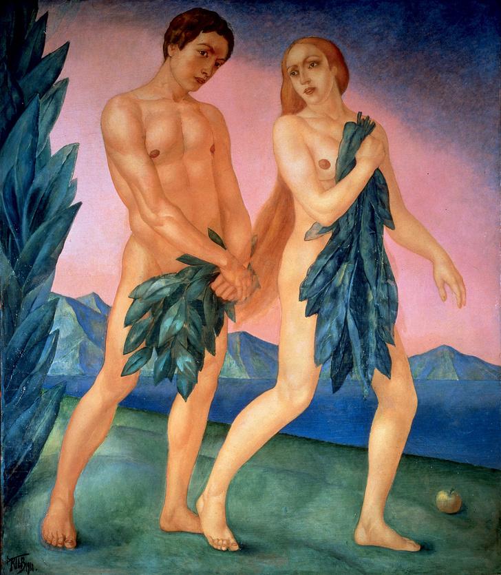 Фото №1 - Галерея: как изображали Адама и Еву последние  2000 лет