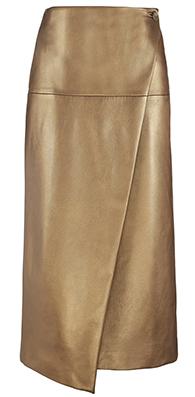 Фото №2 - Вещь дня: Золотая юбка Marks & Spencer