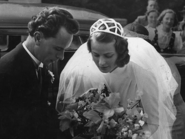 Фото №6 - Как выходили замуж легенды Голливуда: самые красивые ретро-фотографии