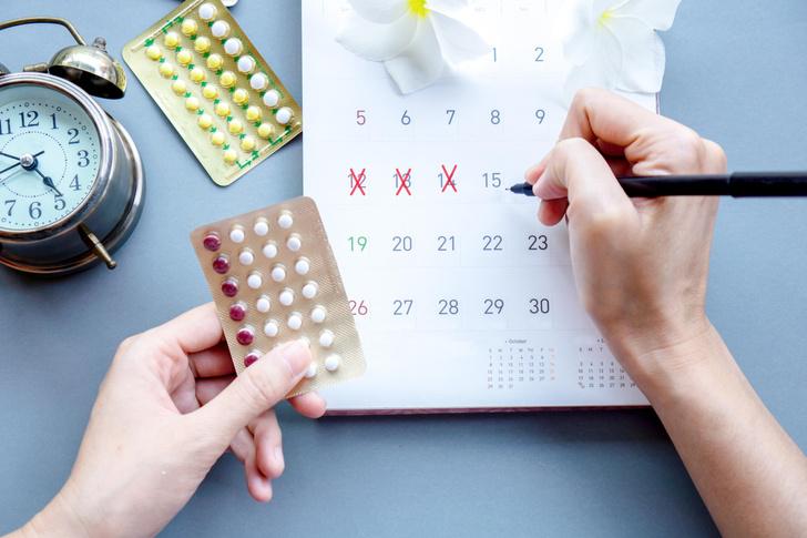 Контрацептивы, месячные