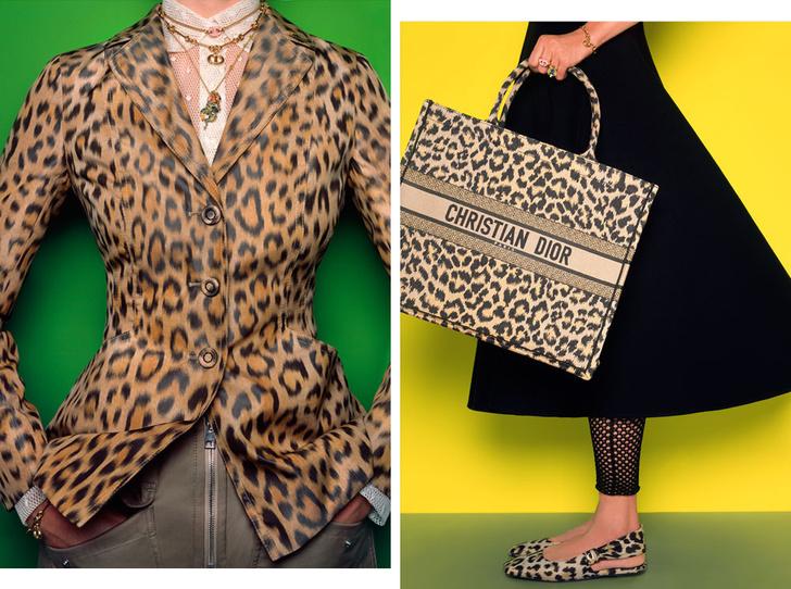 Фото №1 - От сумок до обуви: как выглядят самые модные вещи Dior с леопардовым принтом