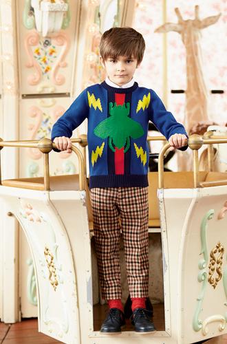 Фото №43 - Золотая карусель: лукбук осенне-зимней детской коллекции Gucci 2016/17