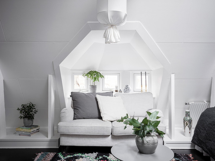 Фото №7 - Маленькая, но уютная мансарда в Швеции